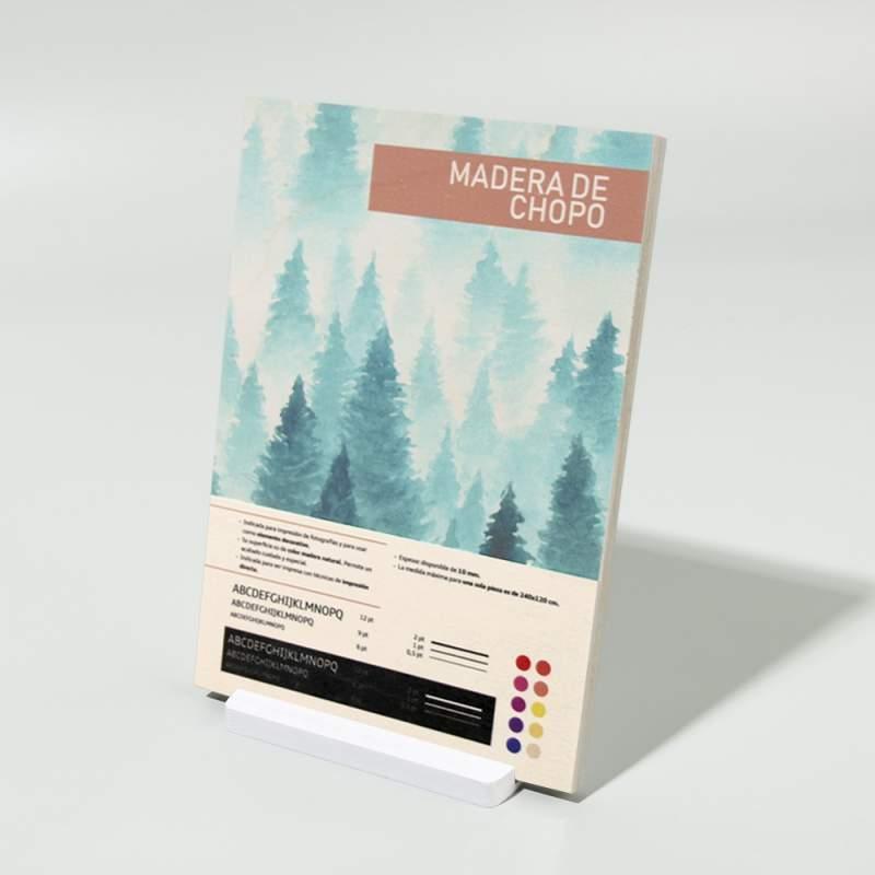Impresión en madera de chopo Hispaprint