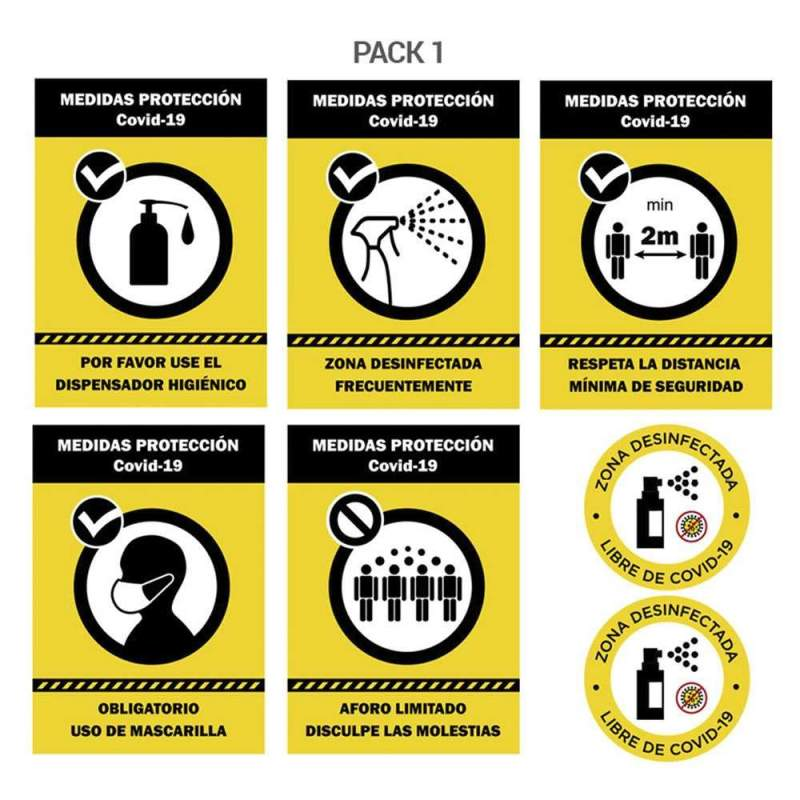 Pack carteles hostelería segura