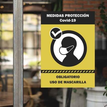 Cartel vinilo medidas seguridad
