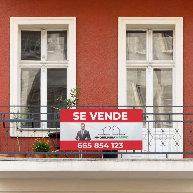 cartel inmobiliaria lona