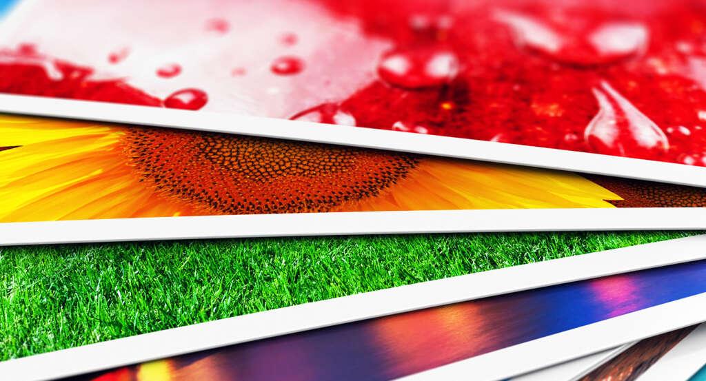 Detalle de impresión de fotos en PVC