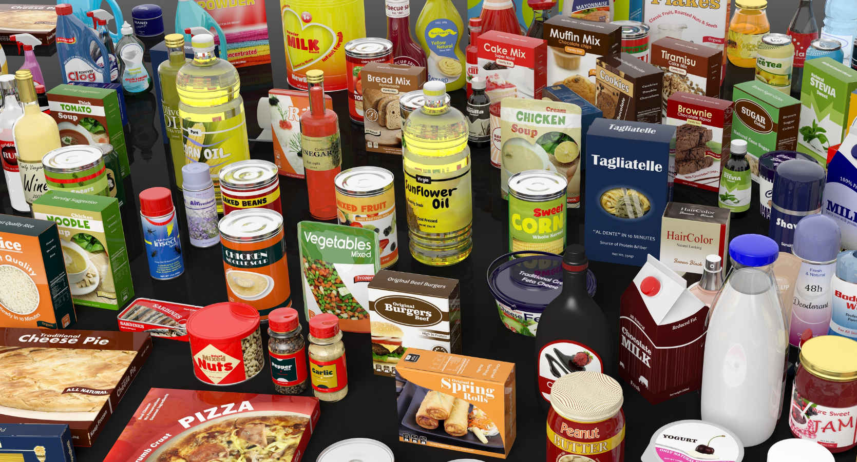 productos con etiquetas impresas en flexografía