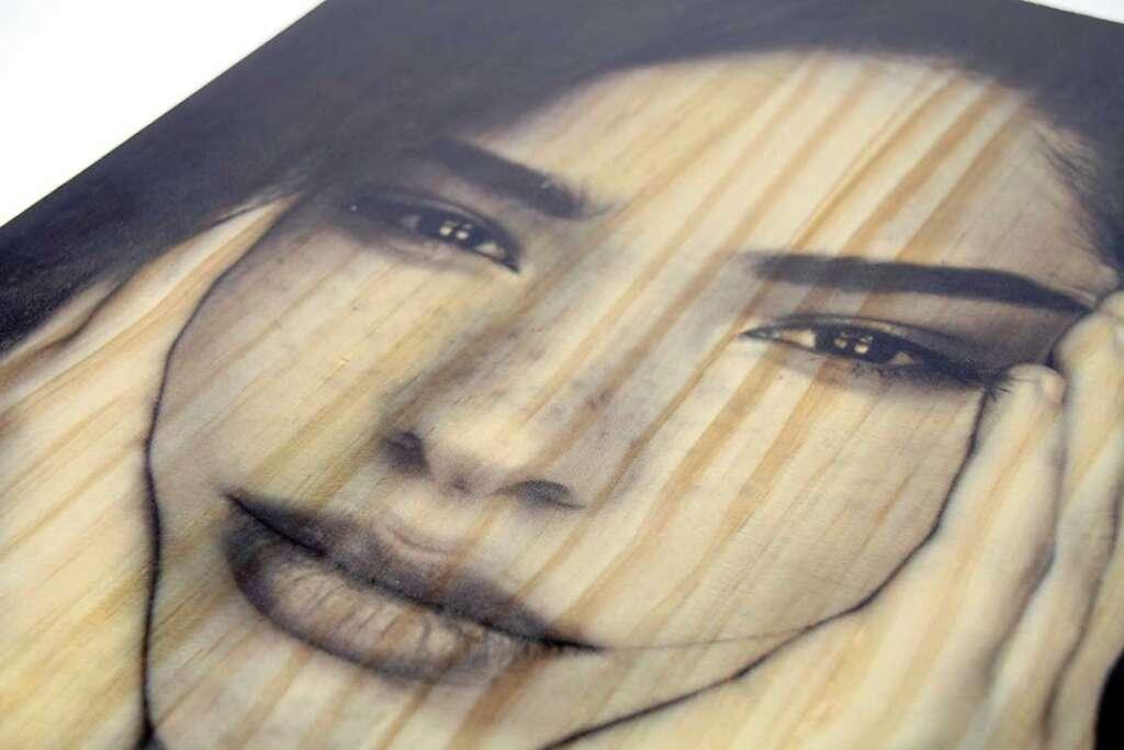 impresión en madera de pino - Hispaprint