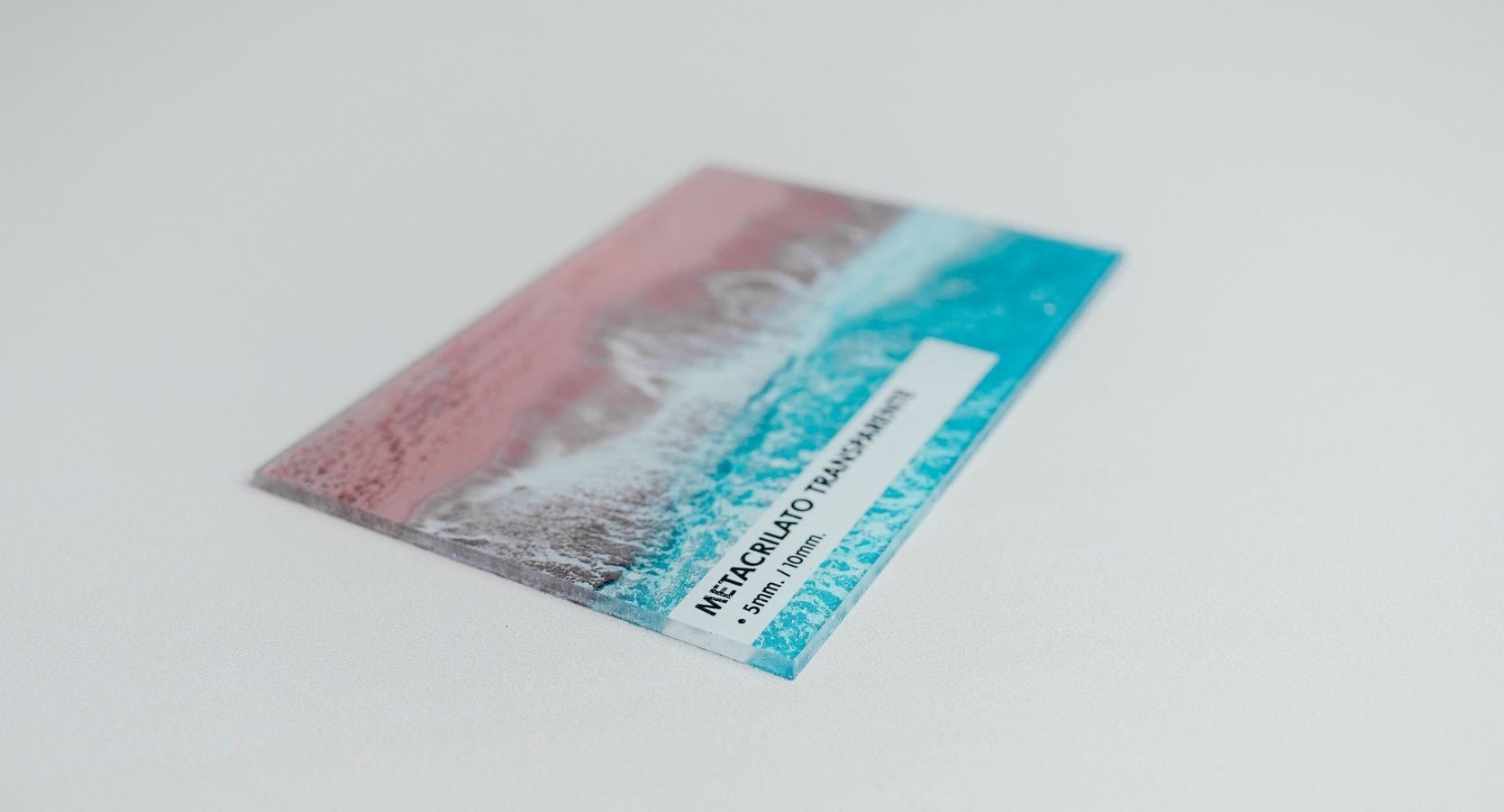 metacrilato transparente impreso