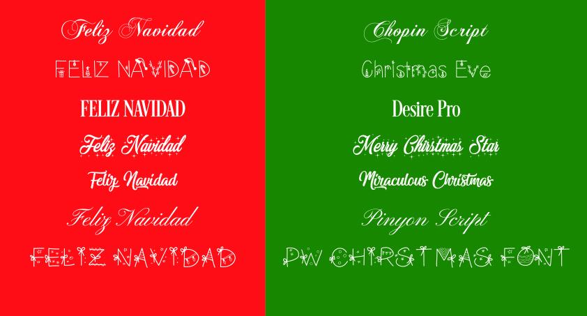 inspiracion tipografias navideñas
