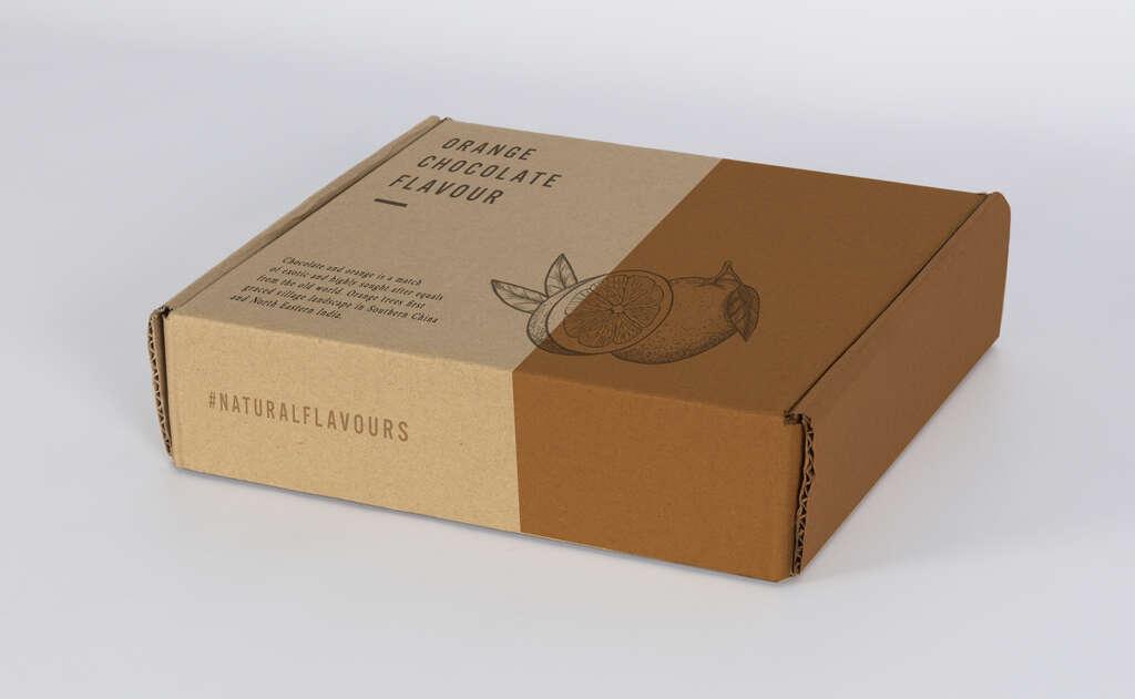Caja impresa fabricada en cartón