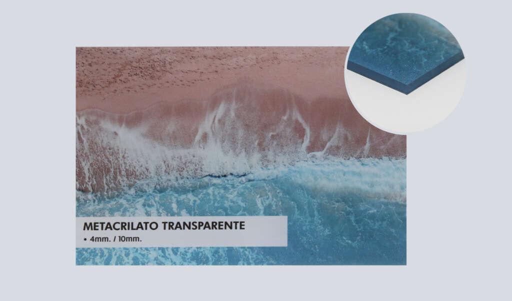 impresión metacrilato transparente